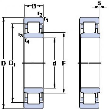 Rodamiento NU 317 ECP SKF