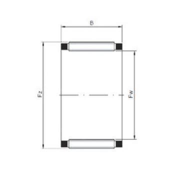 Rodamiento K28x34x17 ISO